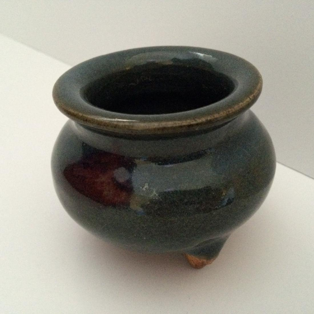 Chinese Jin Dynasty Style Jun Ware Glazed Tripod Censer