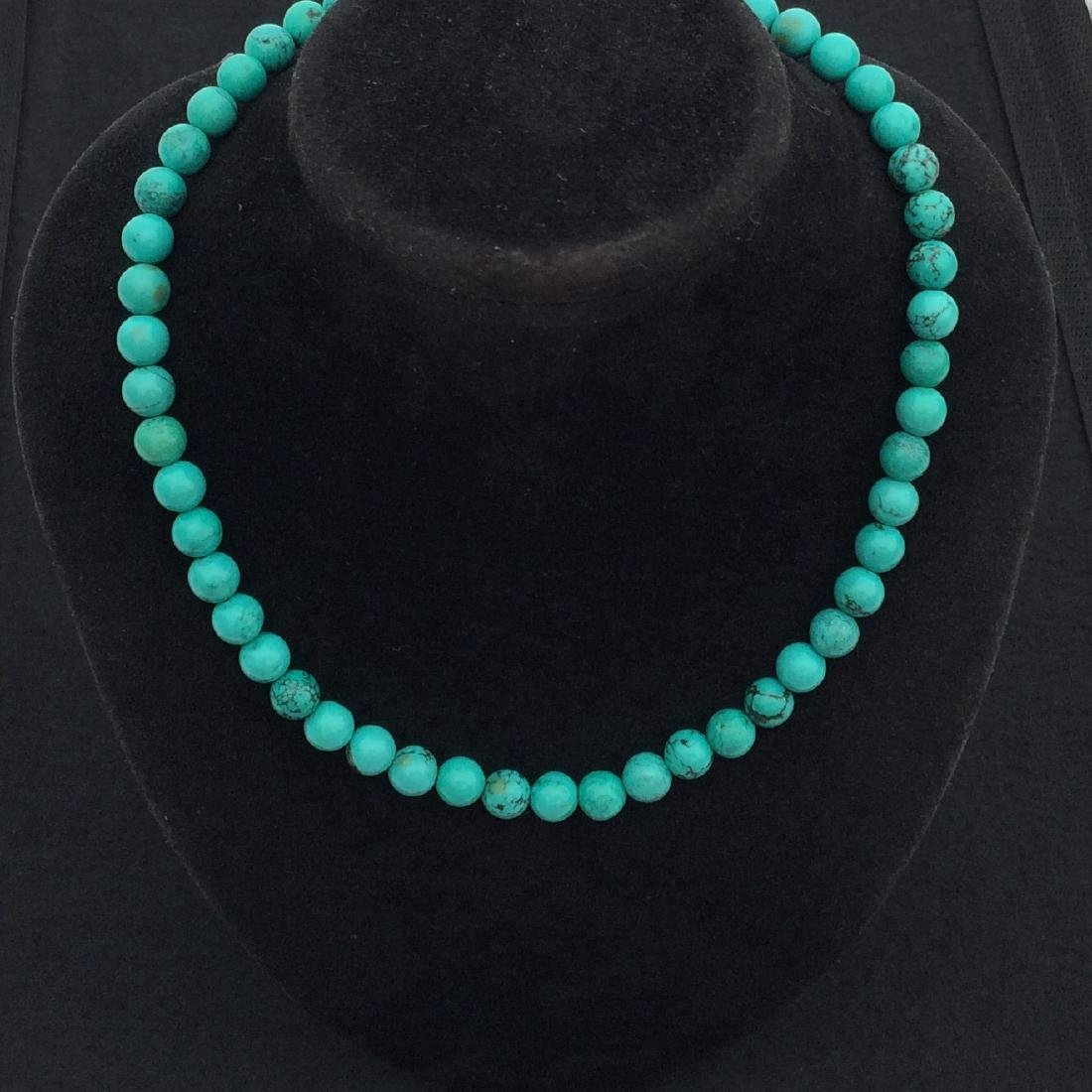 Chinese Old Turquoise Necklace
