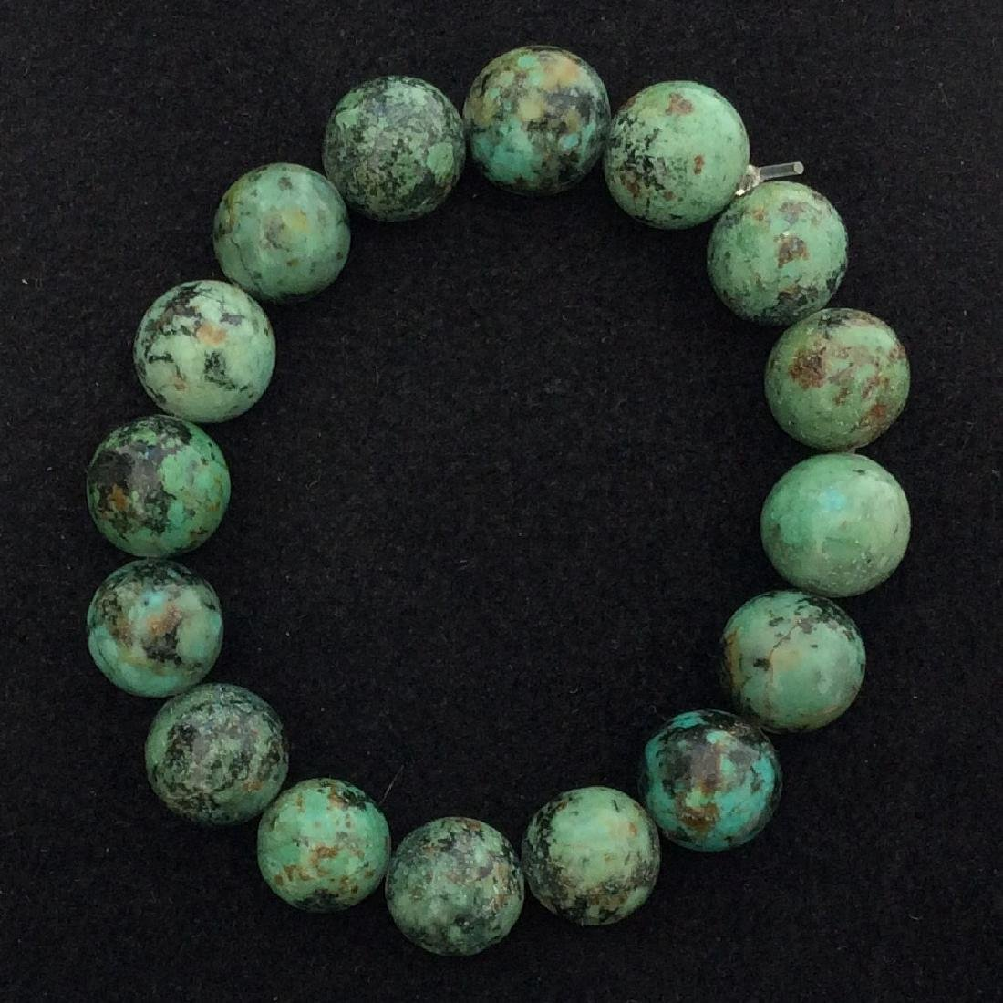 Chinese Old Dark Turquoise Bracelet