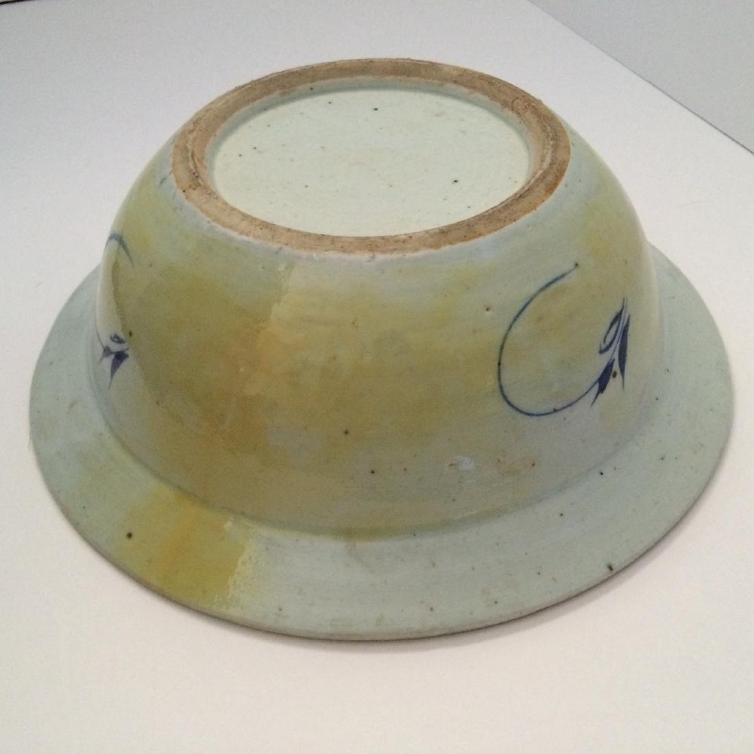 Chinese Chin Dynasty Style Washing White/Blue Bowl - 3