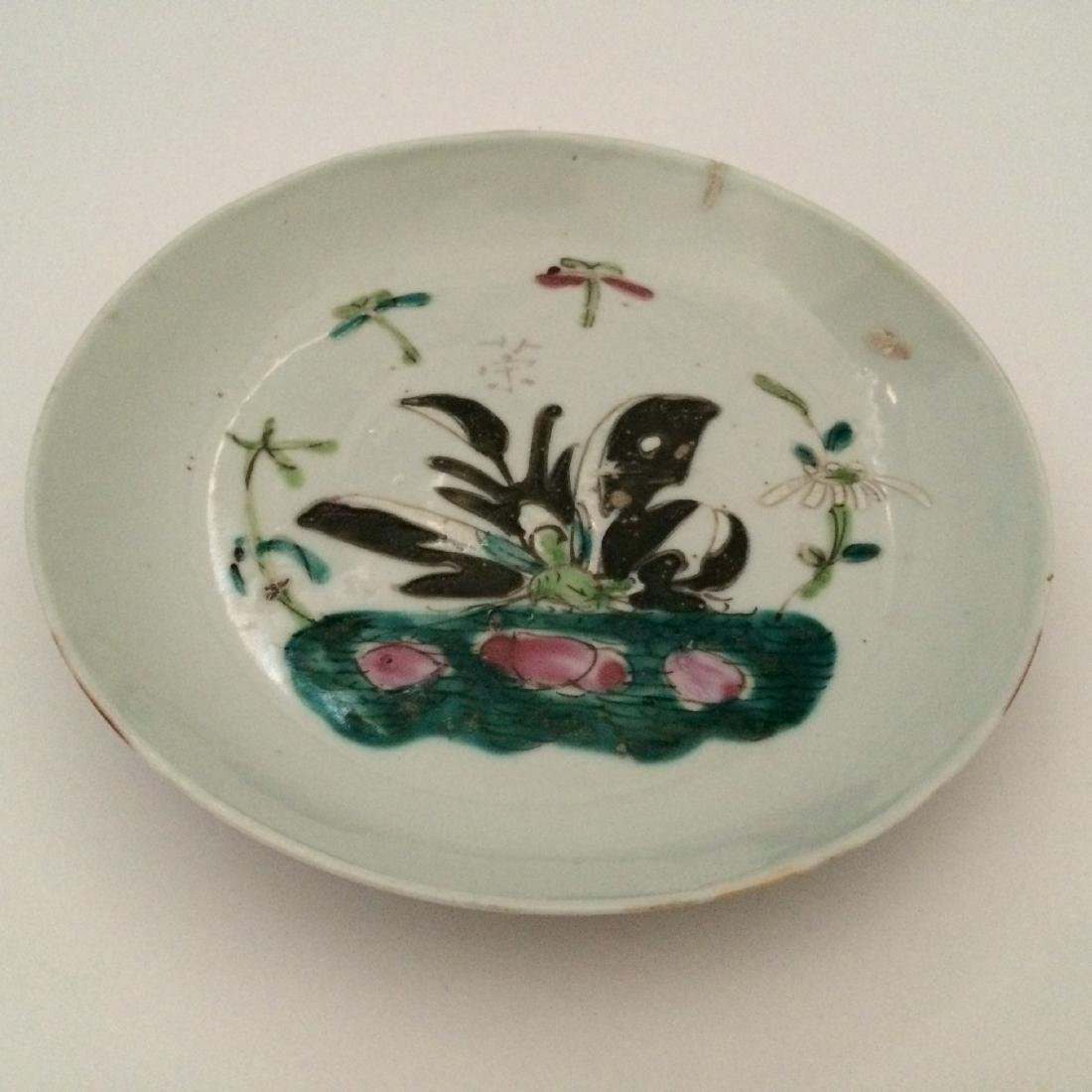 Chinese Chin Dynasty Porcelain Plates Butterfly Design - 2