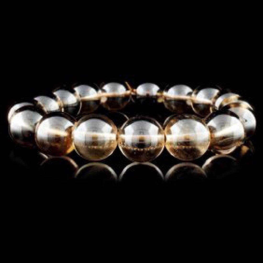 Chinese Natural Crystal Bead Bracelet