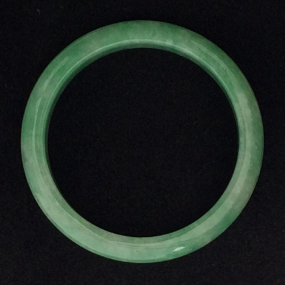Chinese Certified Natural Jade Bangle w Certificate