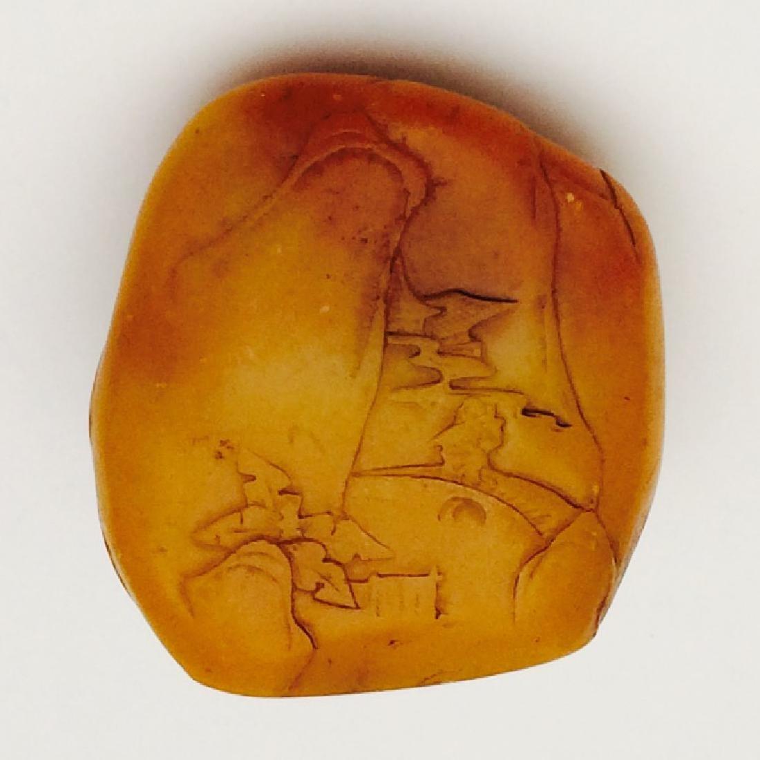 Chinese Carved Shoushan Stone, Landscape - 3