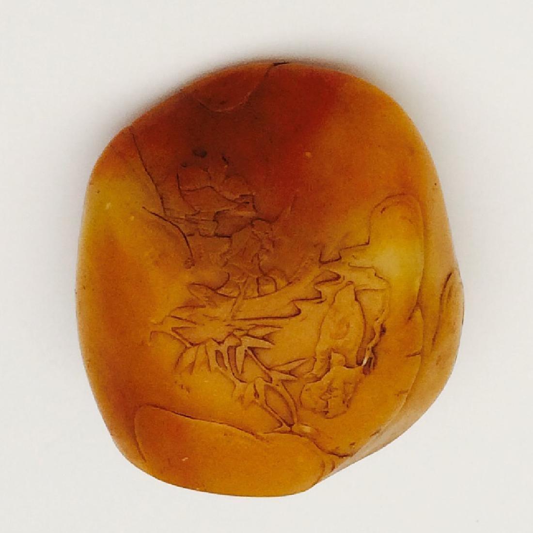 Chinese Carved Shoushan Stone, Landscape - 4
