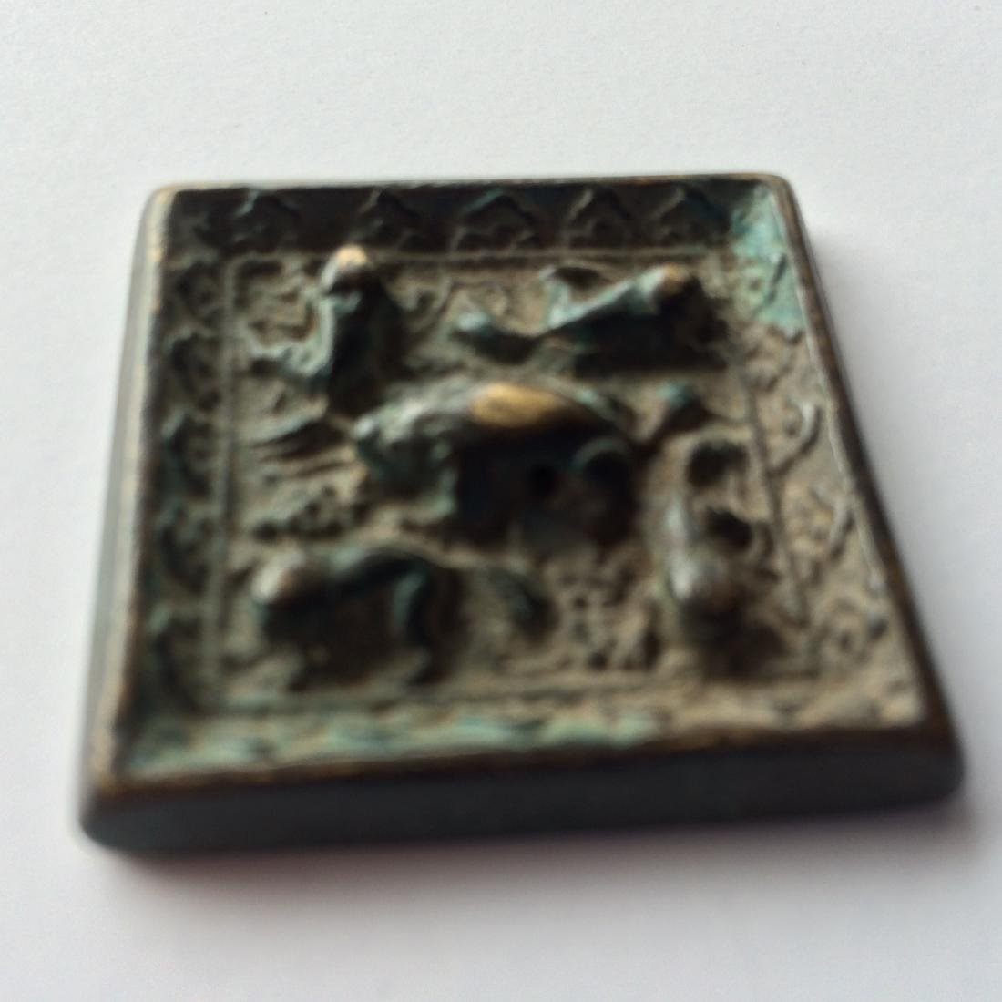 Chinese Bronze Set of 2 Old Mirrors - 2