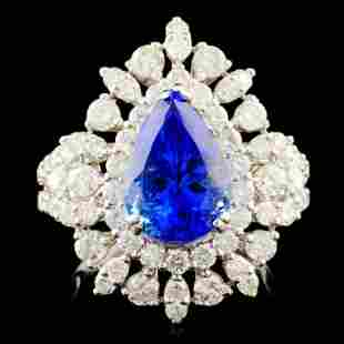 18K Gold 3.21ct Tanzanite & 1.99ctw Diamond Ring