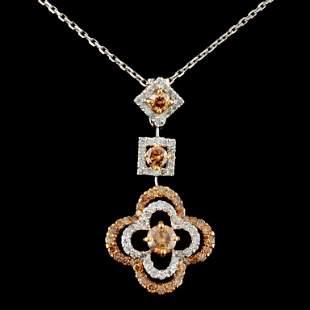 14K Gold 1.08ctw Diamond Pendant