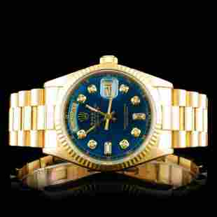 Rolex Day-Date 18K YG Diamond 36mm Wristwatch