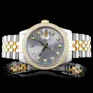 Rolex DateJust 18K/SS Diamond 36mm Watch