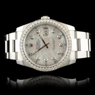 Rolex DateJust 116200 SS 1.35ct Diamond 36MM Watch