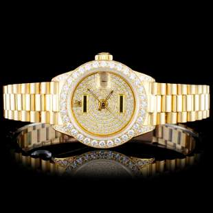 Rolex 18K Gold Presidential Ladies Diamond Watch
