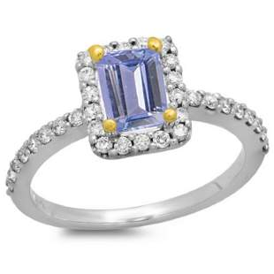 14K Gold 0.75ct Tanzanite & 0.35ct Diamond Ring