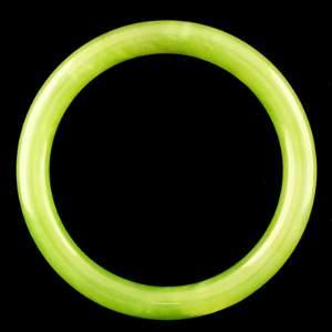 Chinese Fine Nephrite Jade Green Bangle