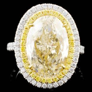 18K White Gold 8.13ctw Fancy Diamond Ring