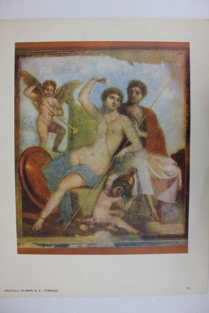 "1284: ""Marte e Venere"" Color Print Pompei Collotype"