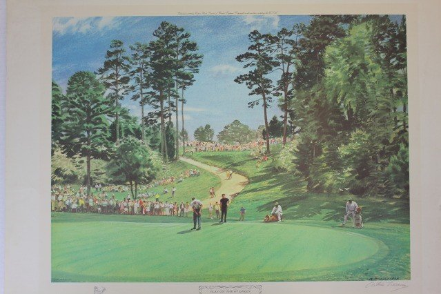 1283: Arthur Weaver PLAY ON THE 6TH GREEN Masters Golf