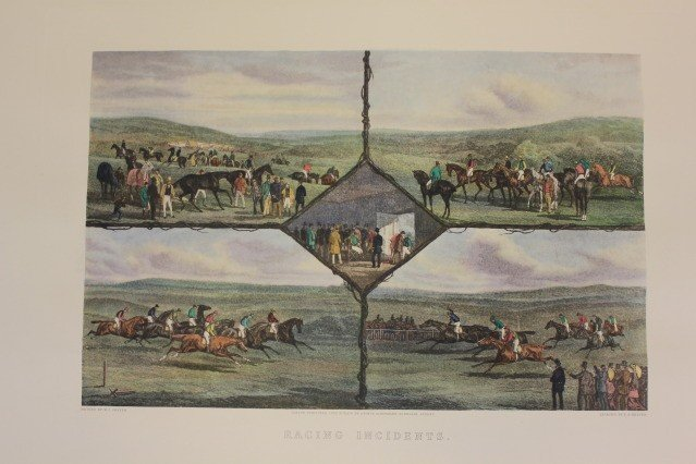 1201: Hand Colored Engraving Racing Incidents WJ Shayer