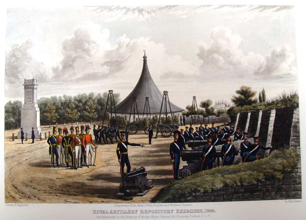 1215: Royal Artillery Repository Exercises 1844 Colored