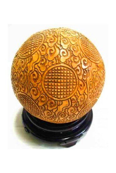 Carved Bone Chinese Ball on Stand