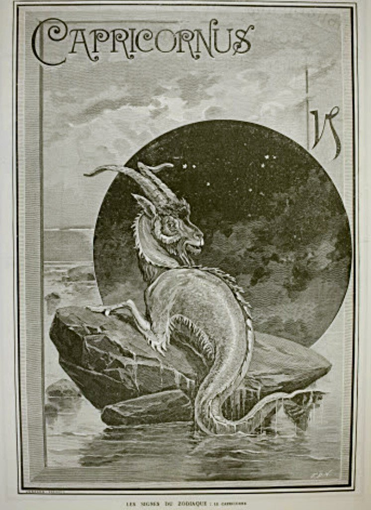 Capricornus By Jonnard, Prevost 12th Dec 1887 Harpers I