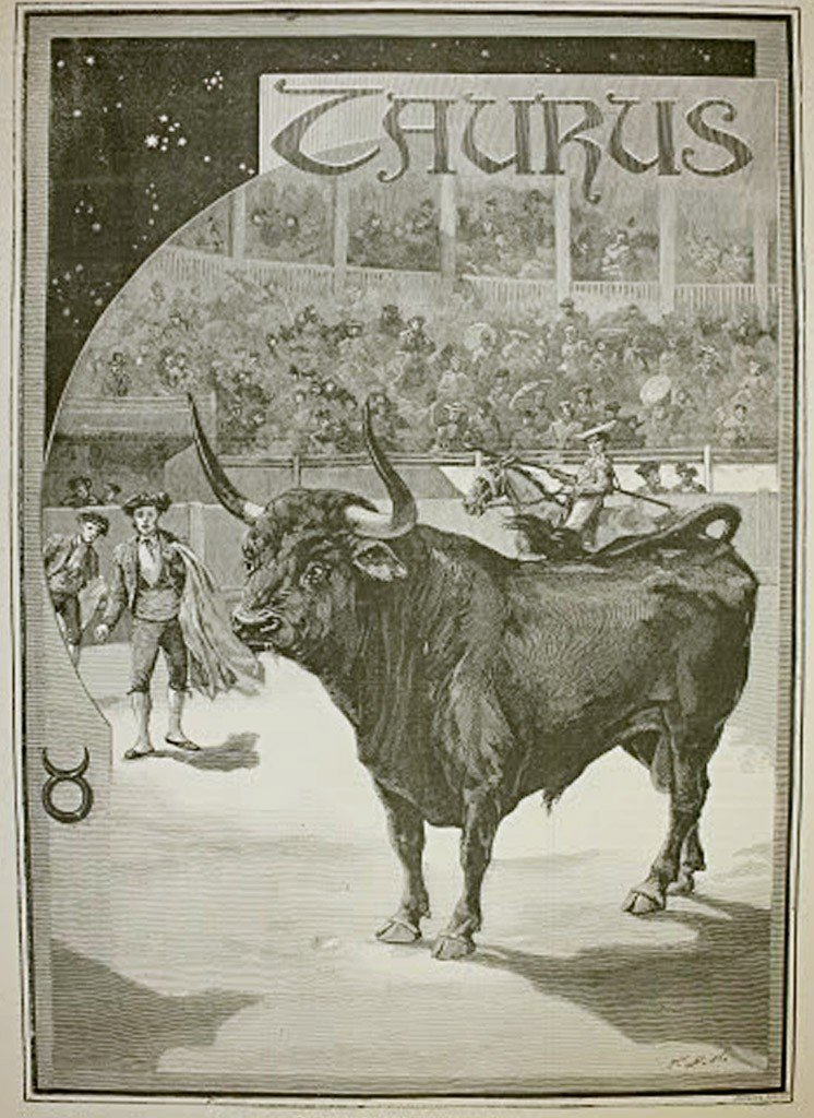 Taurus By Jonnard, Prevost 12th Dec 1887 Harpers Illust