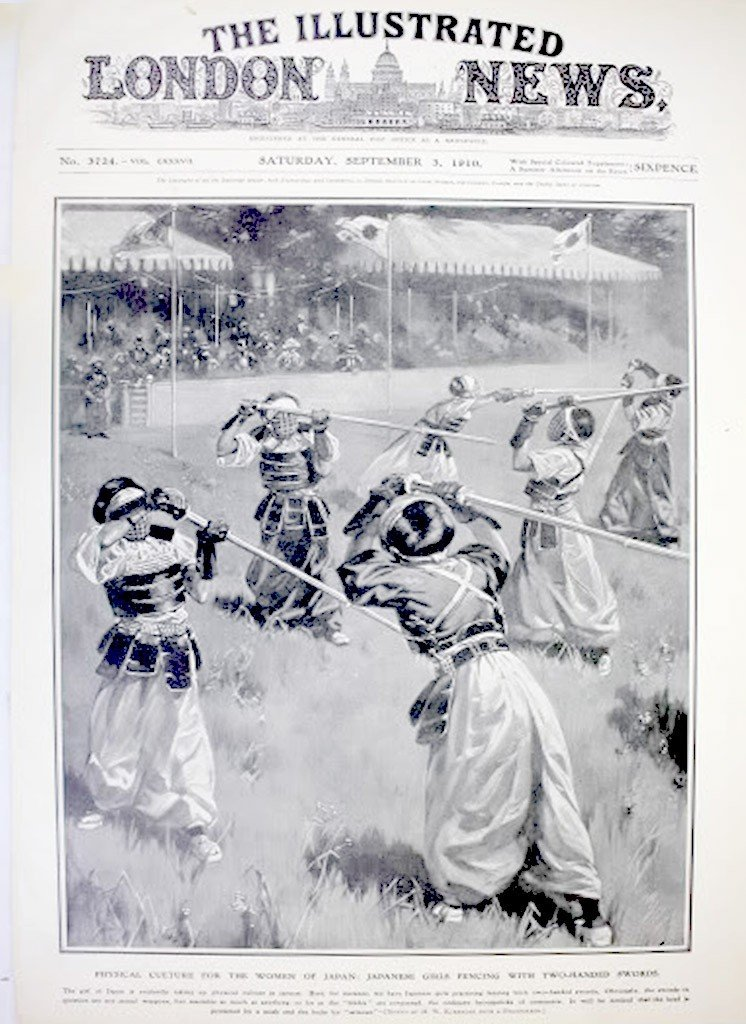 Illustrated London News Cover Sept 3, 1910 Japanese Gir