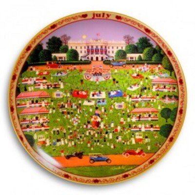 1124: July White House 4th Of July Picnic Ltd Ed Plate