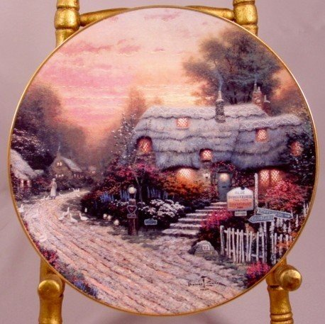 Olde Porterfield Tea Room 1st issue Thomas Kincade Plat
