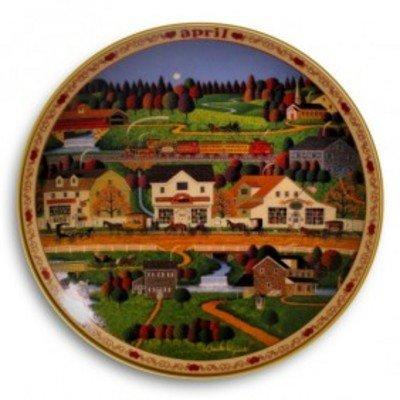 April Yankee Wink Hollow Bradford Exchange Plate