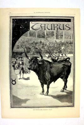 Taurus By Jonnard, Prevost 12th Dec 1887 Harpers Illust