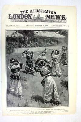 Illustrated London News Cover Sept 3, 1910 Japanese Gir