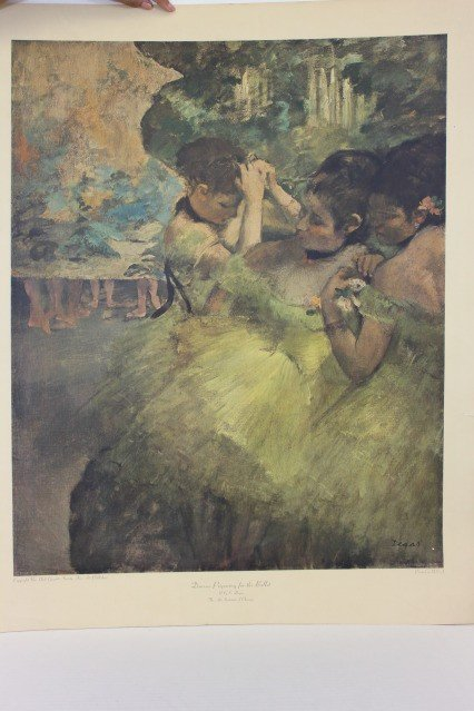 """1200A: Degas """"Dancers Preparing for Ballet"""" Color by NY"""