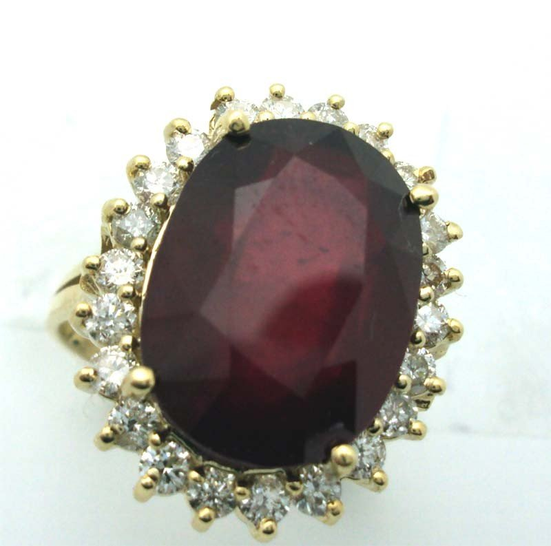 Ruby & Diamond Ring 14k Gold 1.01 CTW G-H Dia 11.91 Rub