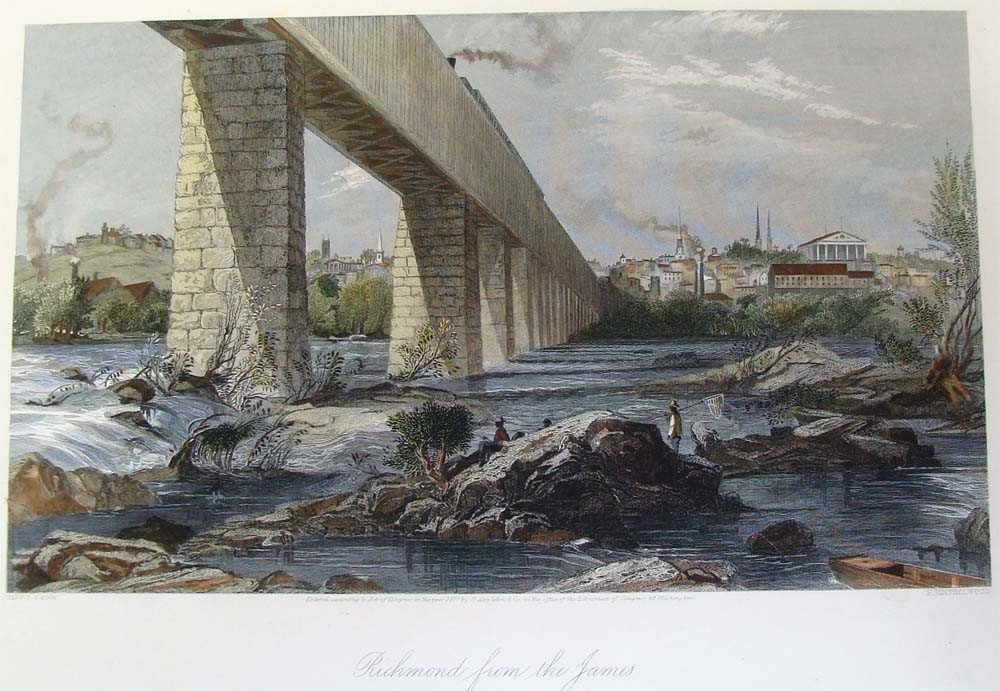 Richmond from the James by Harry Fenn Steel Engraving