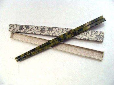 1083: Set Of Six Pairs Carved Jade Stone Chopsticks