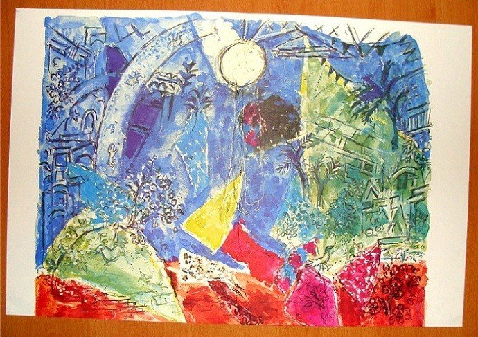 Verve Double Size Chagall Print Untitled