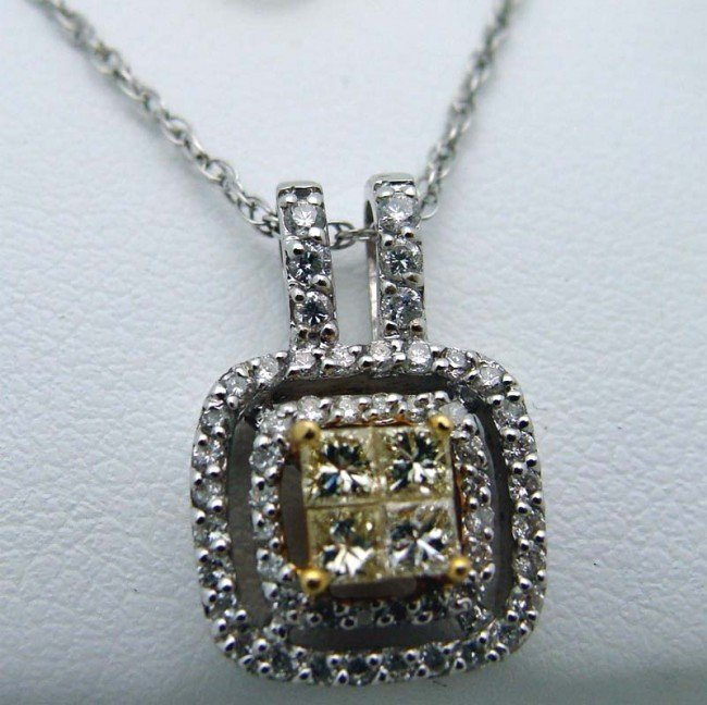 Diamond Pendant 14k WG .50 Carat TW Diam 2.4g