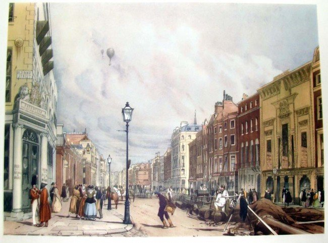 Piccadilly from corner of Old Bond Street 1842 T S BOYS
