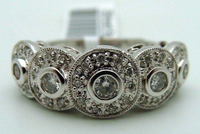 Diamond Ring 14k White Gold .50 CTW Dias