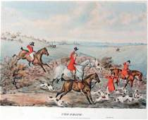The Death Hand Color Engraving by Henry Alken 1841