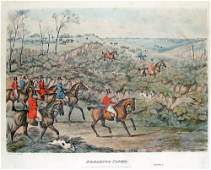 Breaking Cover Hand Color Engraving by Henry Alken 1841