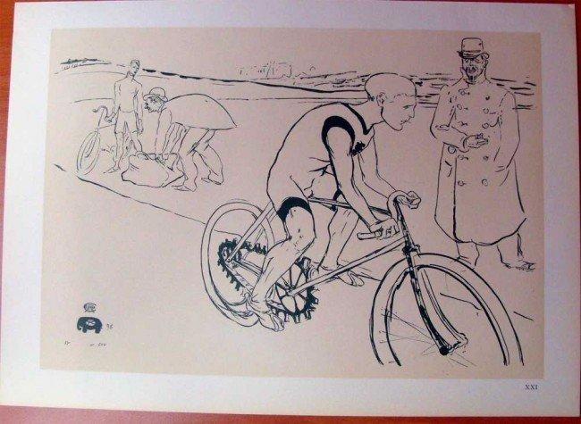 """Toulouse Lautrec """"Study for a Sketchbook"""" 1955 Pochoir"""