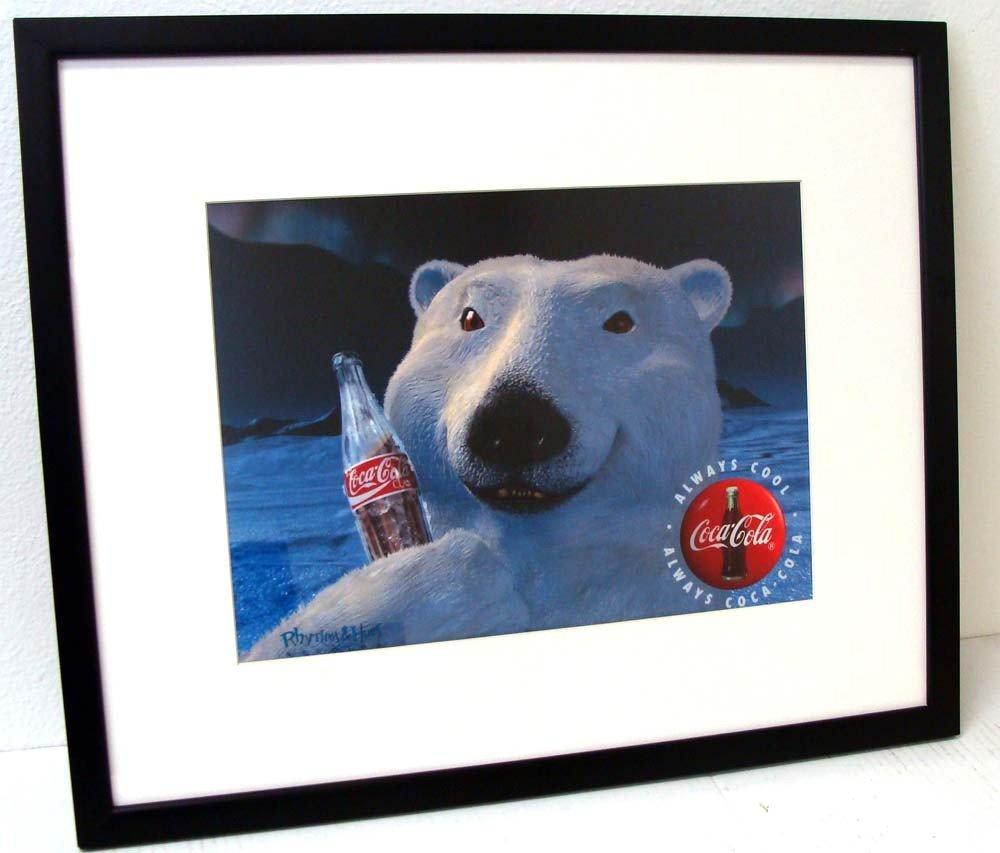 Coca Cola Polar Bear Animation Framed Sericel