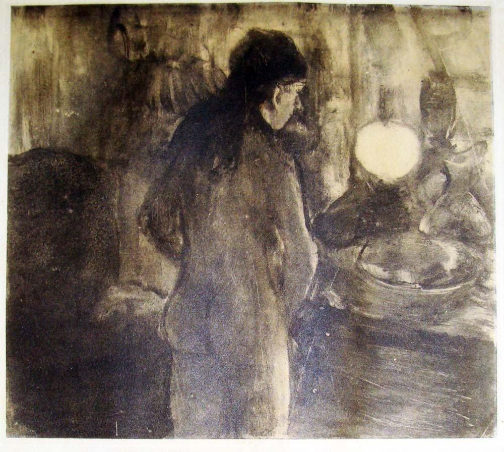 Edgar Degas Rare Monotype La Toilette 1948