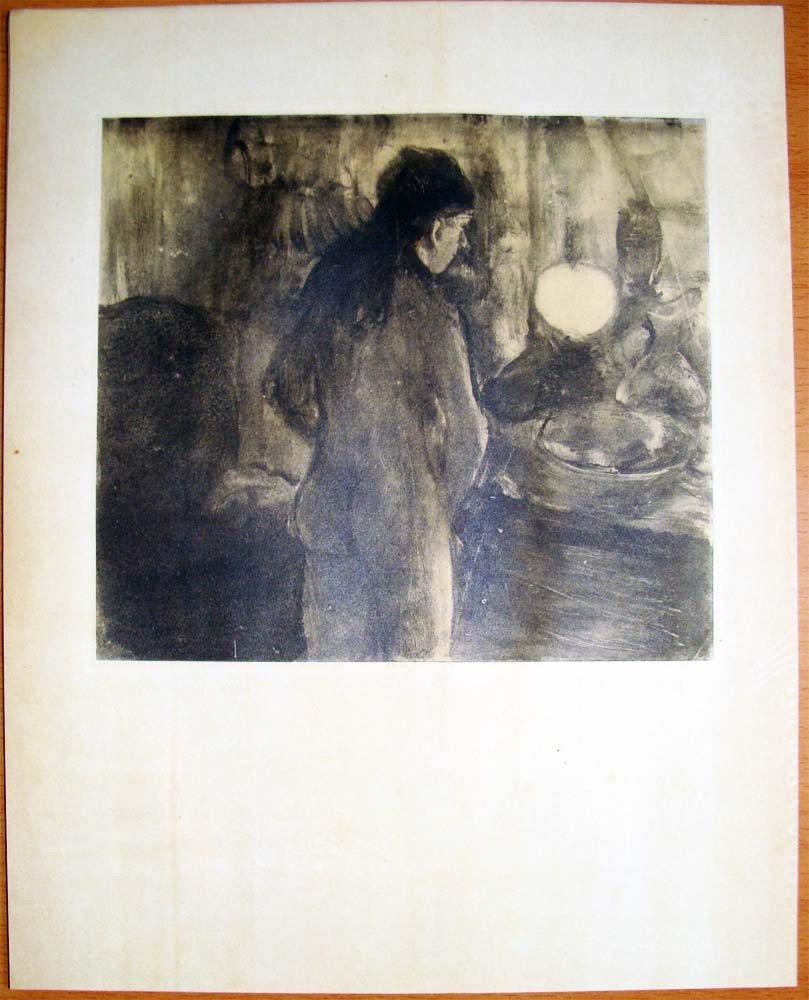 Edgar Degas Rare Monotype La Toilette 1948 - 2