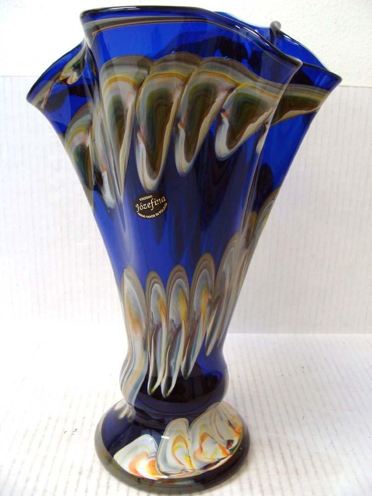 Hand-Blown Glass Vase By Krosno Jozefina of Poland - 2