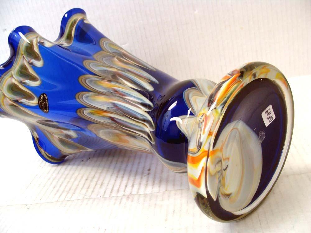 Hand-Blown Glass Vase By Krosno Jozefina of Poland - 3