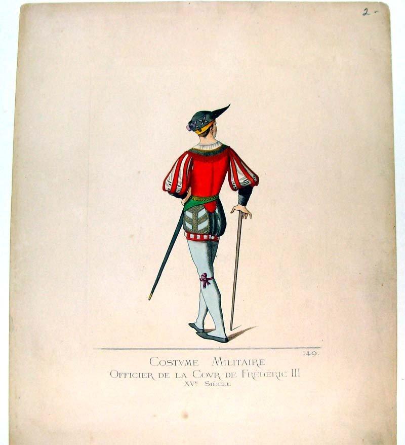 Costume Militaire Officier de la Covr De Frederic III