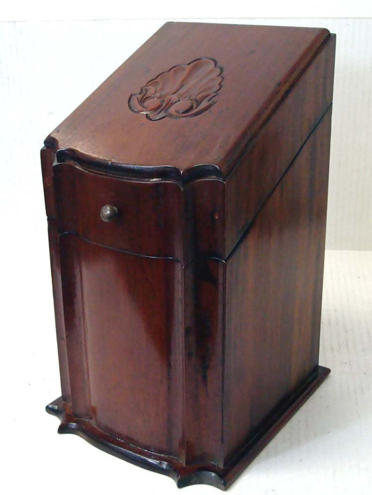 Asian Mahogany Carved Desk Stand With Lid